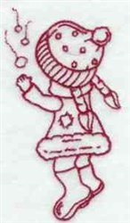 Winter Sunbonnet Girl embroidery design