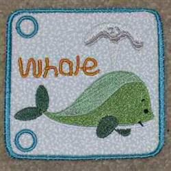 Sea Book Whale embroidery design