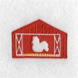 Puzzle Barn Chicken embroidery design