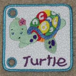 Sea Book Turtle embroidery design