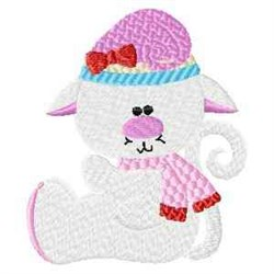 Frosty Kitty embroidery design
