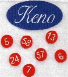 Keno embroidery design