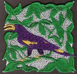 FSL Bird Block embroidery design