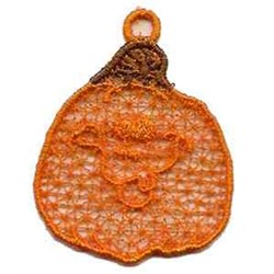 FSL Pumpkin Ornament embroidery design