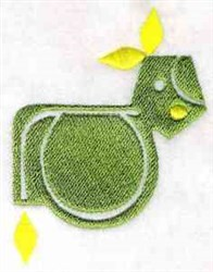 Fun Shapes Animal embroidery design