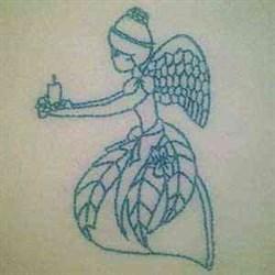 Bluework Christmas Angel embroidery design