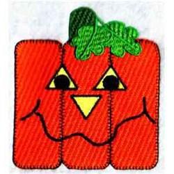 Funky Pumpkin Blanket embroidery design