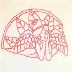 Redwork Christmas Angel embroidery design