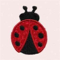 Ladybug Applique embroidery design