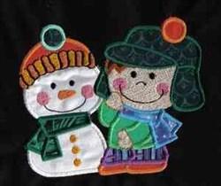 Winter Kid embroidery design