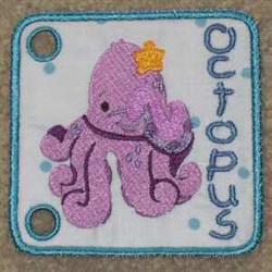 Sea Book Octopus embroidery design