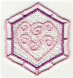 FSL Heart Sachet embroidery design