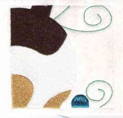 Puppy Quilt Block embroidery design