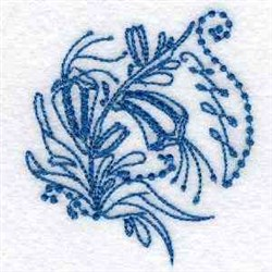 Line Art Easter Lily embroidery design