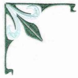Linen Floral Corner embroidery design