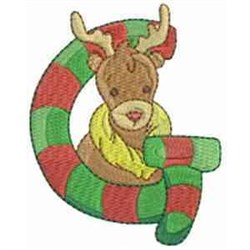 Christmas Font Letter G embroidery design