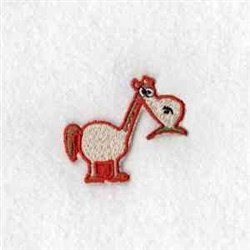 Puzzle Barn Horse embroidery design