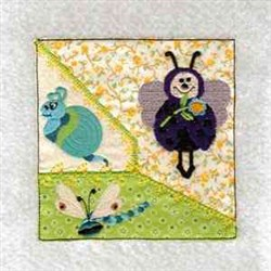 Ladybug Insect Quilt Block embroidery design