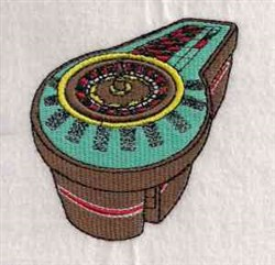 Lets Play Roulette embroidery design