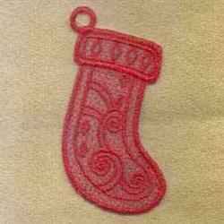 FSL Stocking Ornament embroidery design