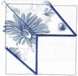Peony Quilt Block embroidery design