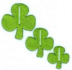Shamrock Buttonholes embroidery design