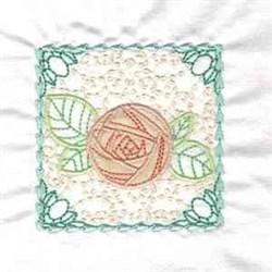 Applique Rose Square embroidery design