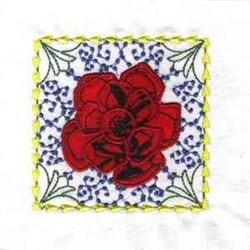 Applique Flower Block embroidery design