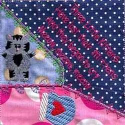 3 Little Kittens Quilt embroidery design