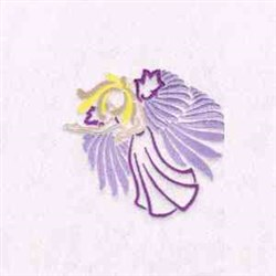 Flying Angel embroidery design