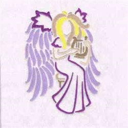 Harp Angel embroidery design