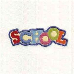 Applique School Text embroidery design