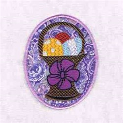 Applique Easter Egg embroidery design