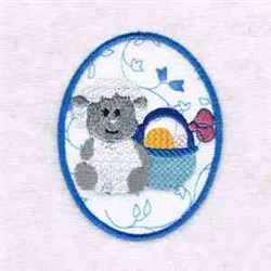 Lamb Easter Egg embroidery design