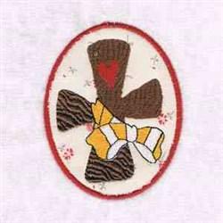 Cross Easter Egg embroidery design
