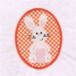 Easter Egg Bunny embroidery design