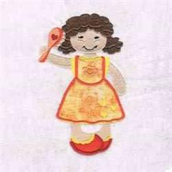 Applique Fancy Girl embroidery design