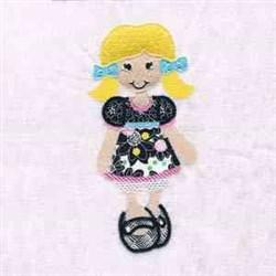 Pretty Girl embroidery design