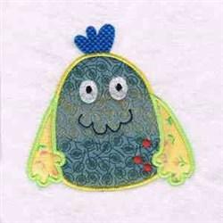 Applique Monster embroidery design