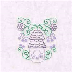 Outline Birdhouse embroidery design