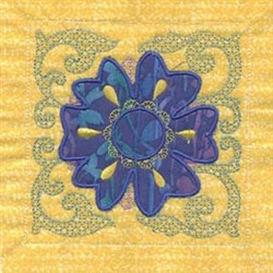 Applique Floral Block embroidery design