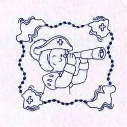 Explorer Quilt Block embroidery design