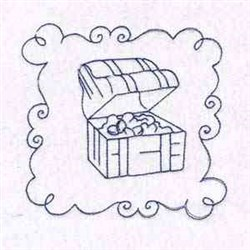 Chest Quilt Block embroidery design