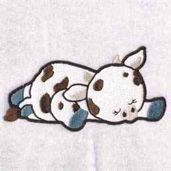 Sleepy Cow embroidery design