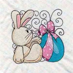 Cute Easter Swirl Blocks embroidery design
