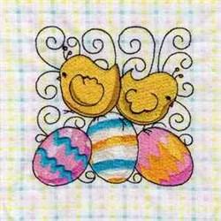 Cute Chicken Block embroidery design