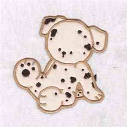 Spotted Puppy embroidery design