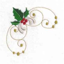 Deck the Holly embroidery design