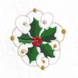 Holly Sprig embroidery design