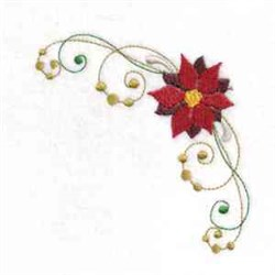 Poinsettia embroidery design